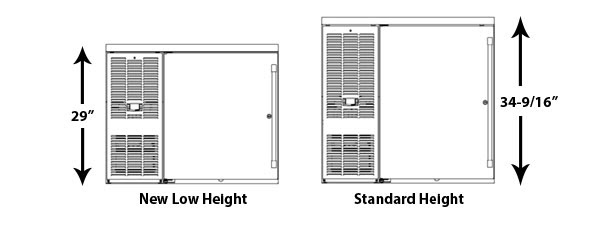 Perlick Low Height vs Standard Height