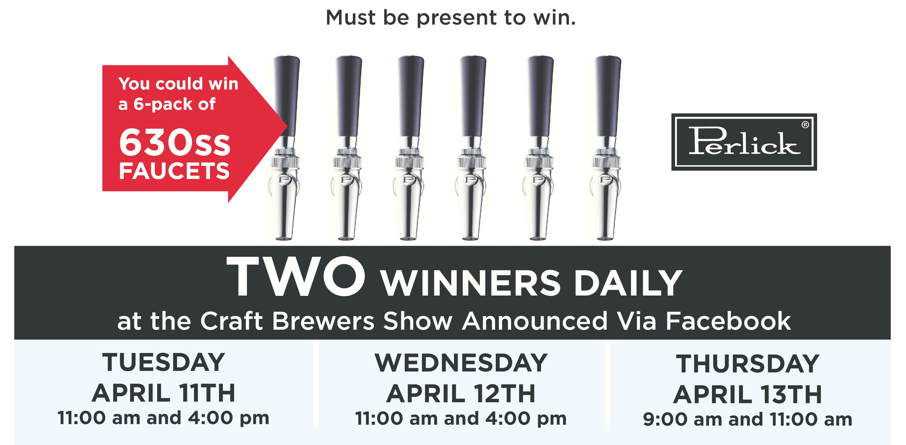 Win a Six Pack of Perlick Faucets