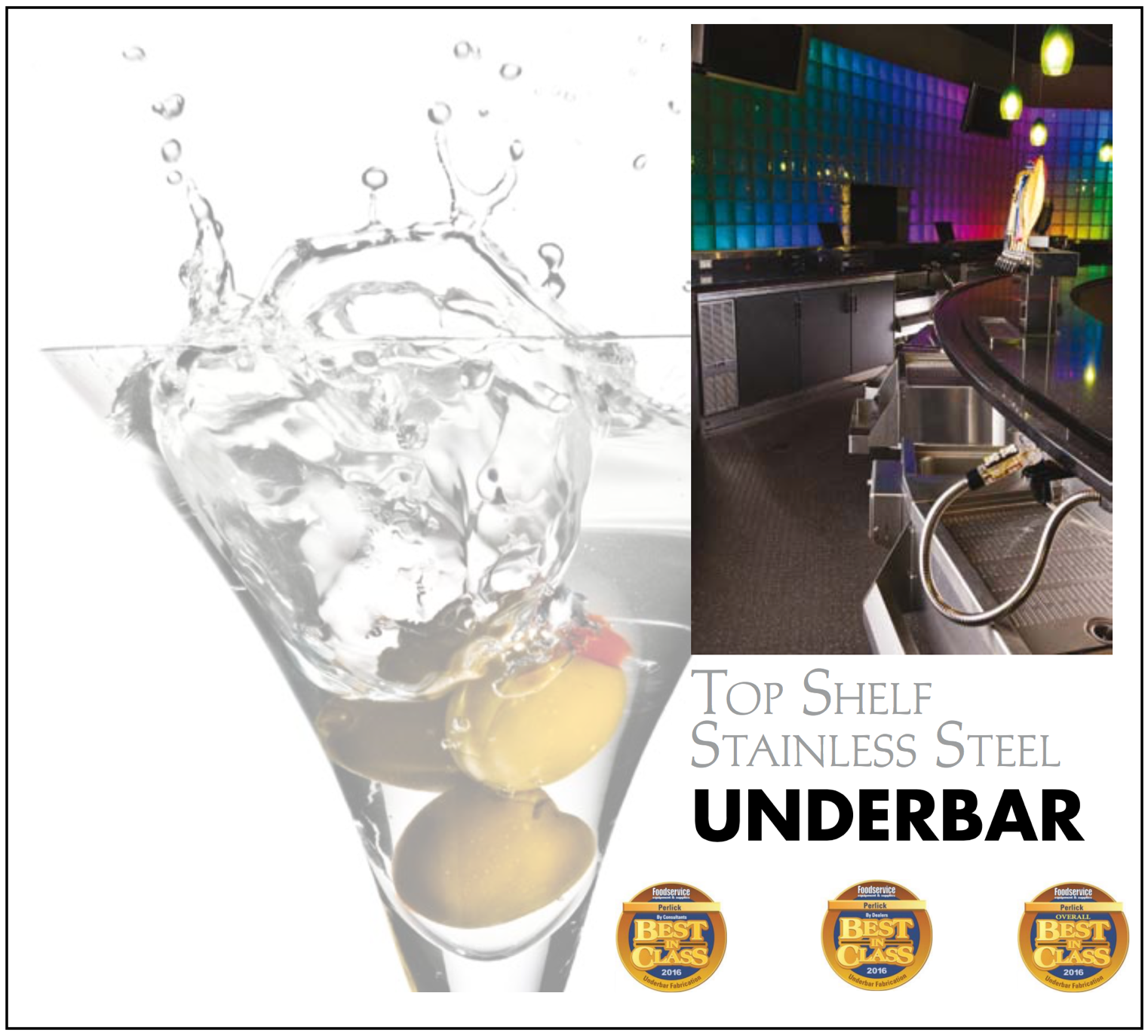 Perlick Receives 2016 Best-in-Class Underbar Fabrication Awards