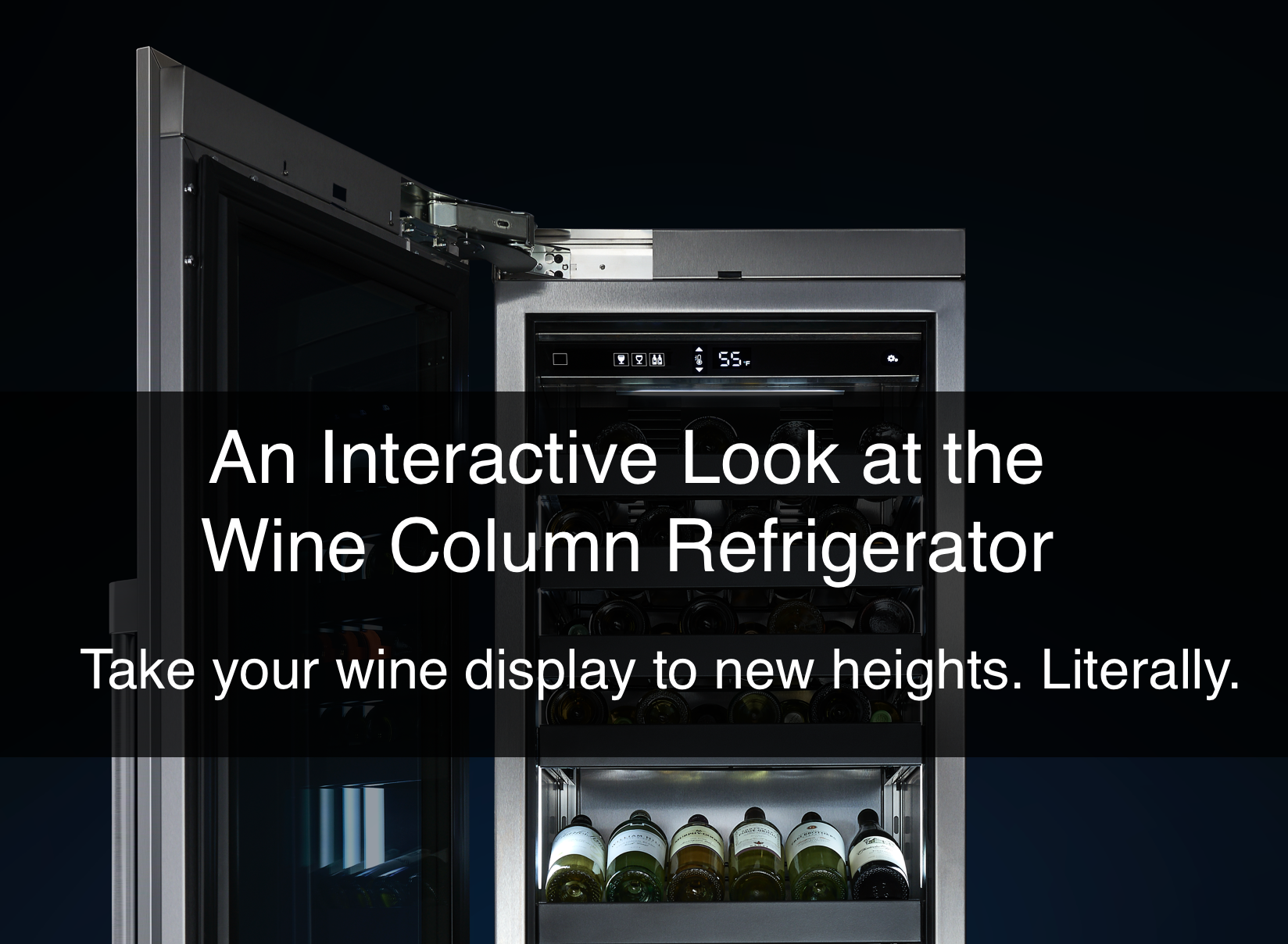 An Interactive Look at the Wine Column Refrigerator