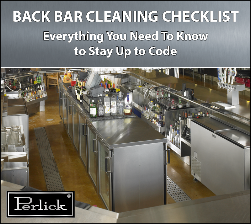 Get the Back Bar Cleaning Checklist for Bartenders